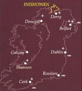 Travel routes to Inishowen